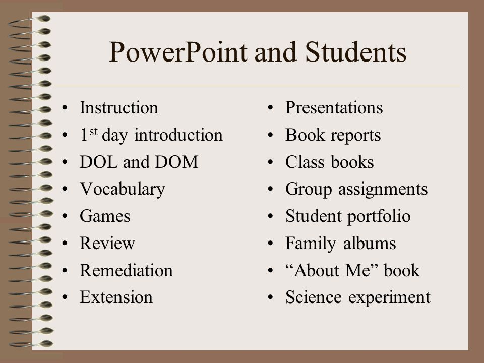 PowerPoint and Students