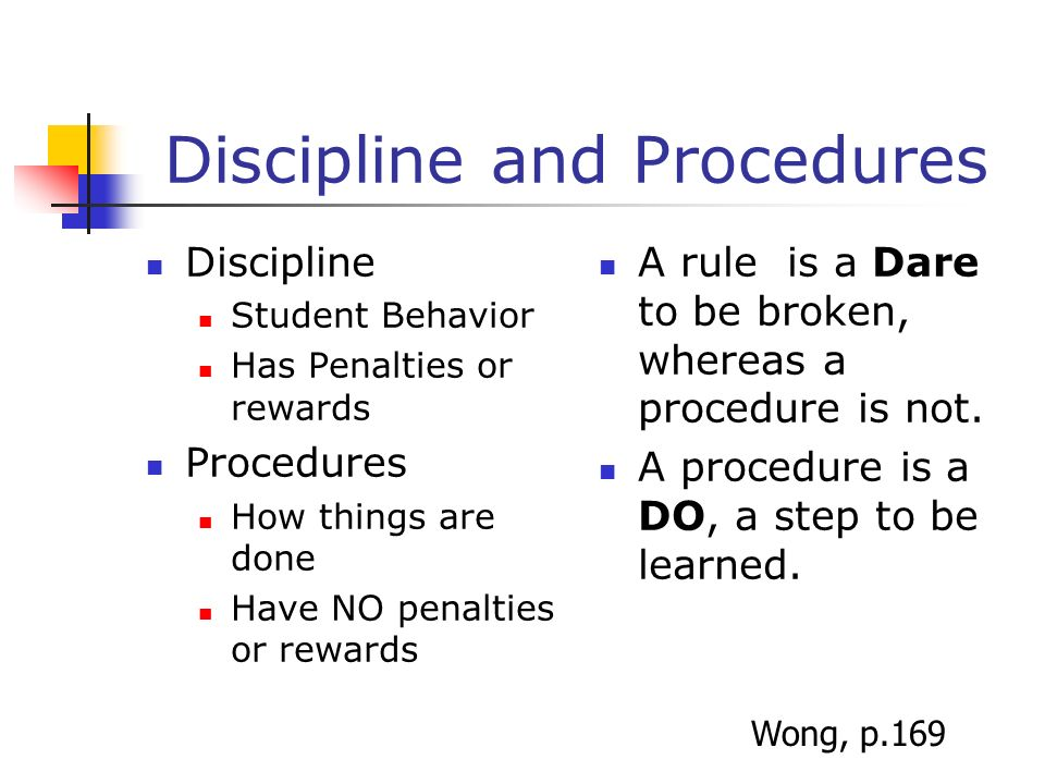 Discipline and Procedures