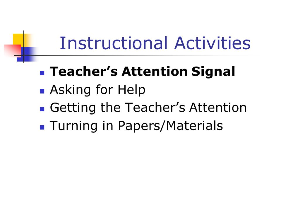 Instructional Activities