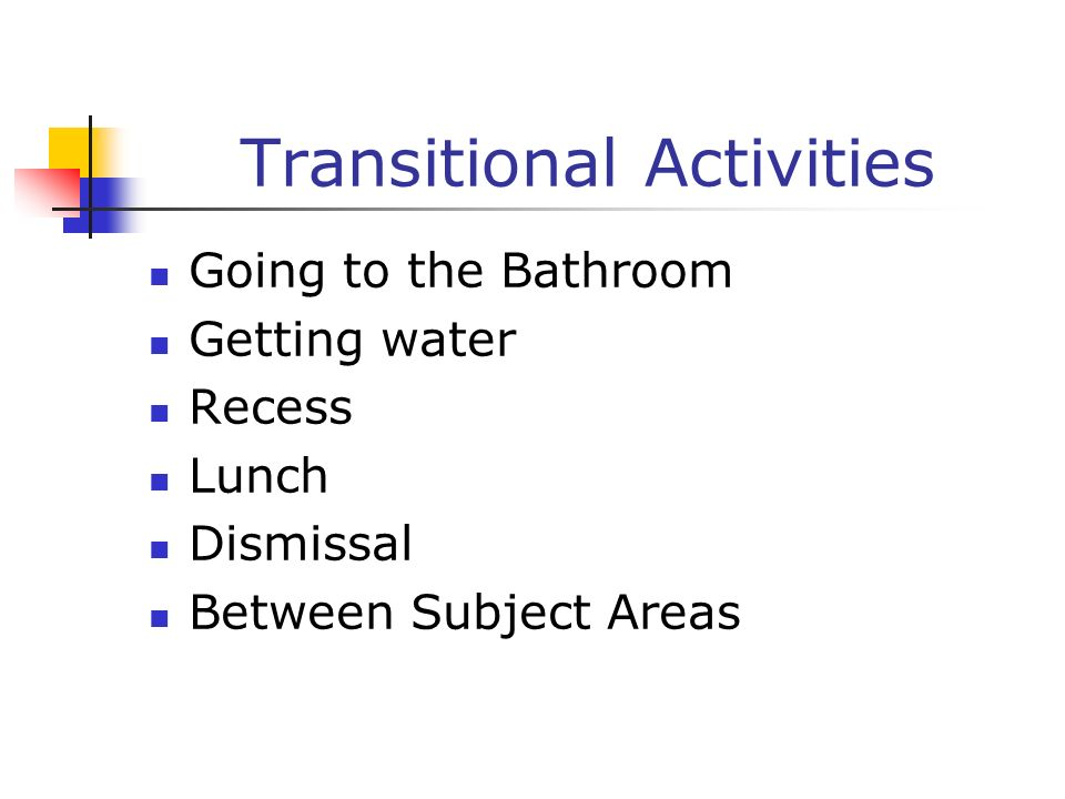 Transitional Activities