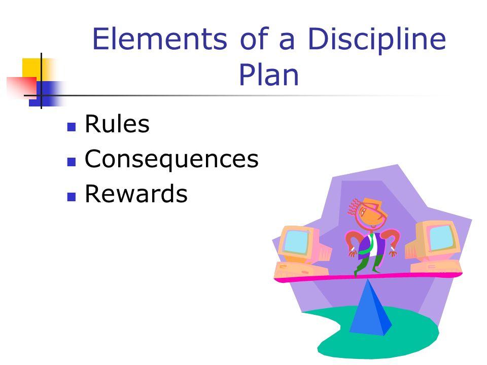 Elements of a Discipline Plan
