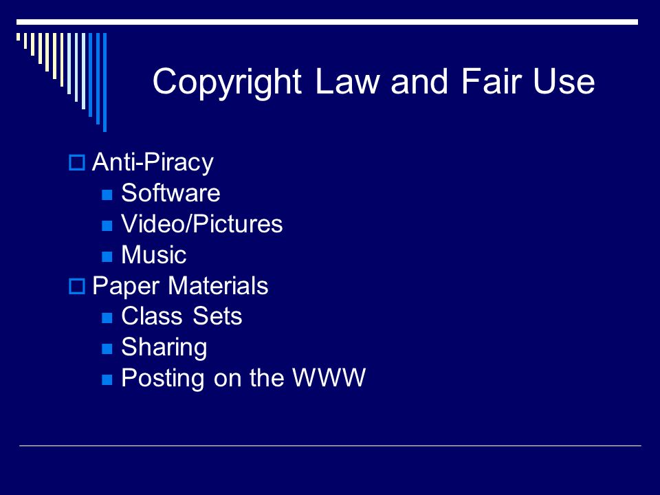 Copyright Law and Fair Use