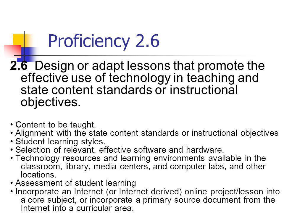 Proficiency 2.6