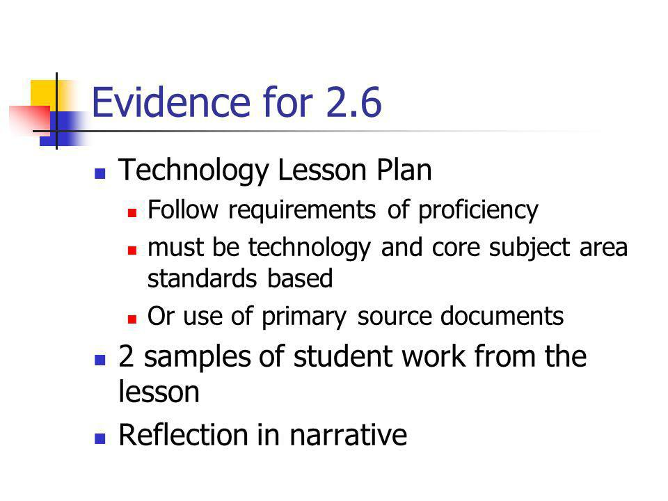 Evidence for 2.6 Technology Lesson Plan
