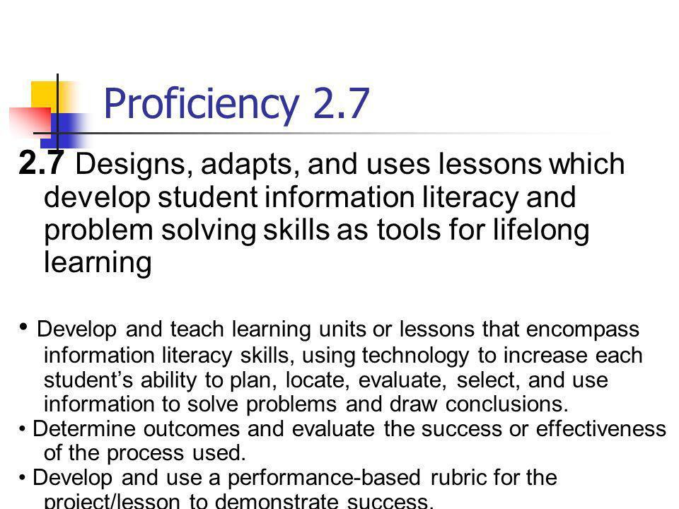Proficiency 2.7