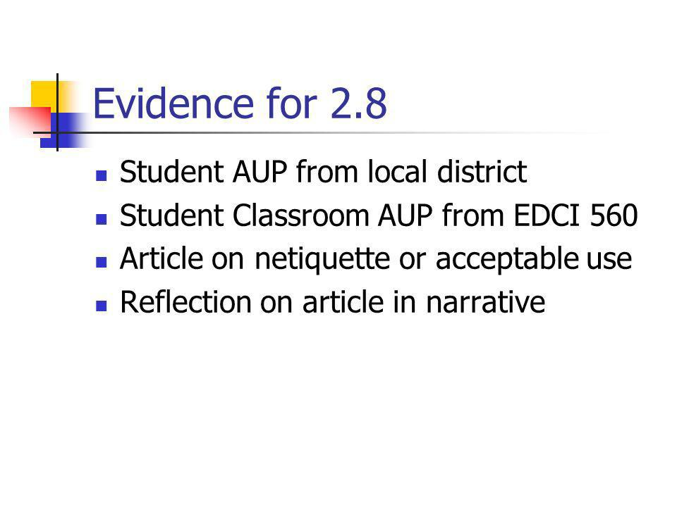 Evidence for 2.8 Student AUP from local district
