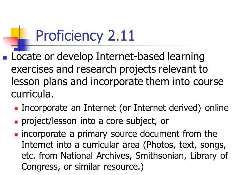 Proficiency 2.11