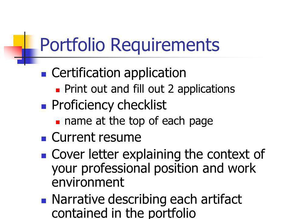 Portfolio Requirements