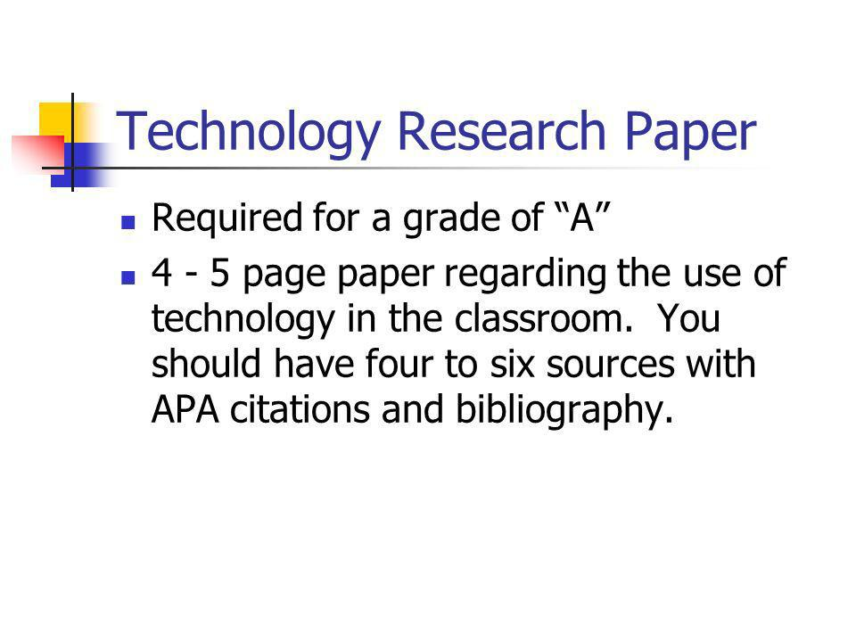 Technology Research Paper