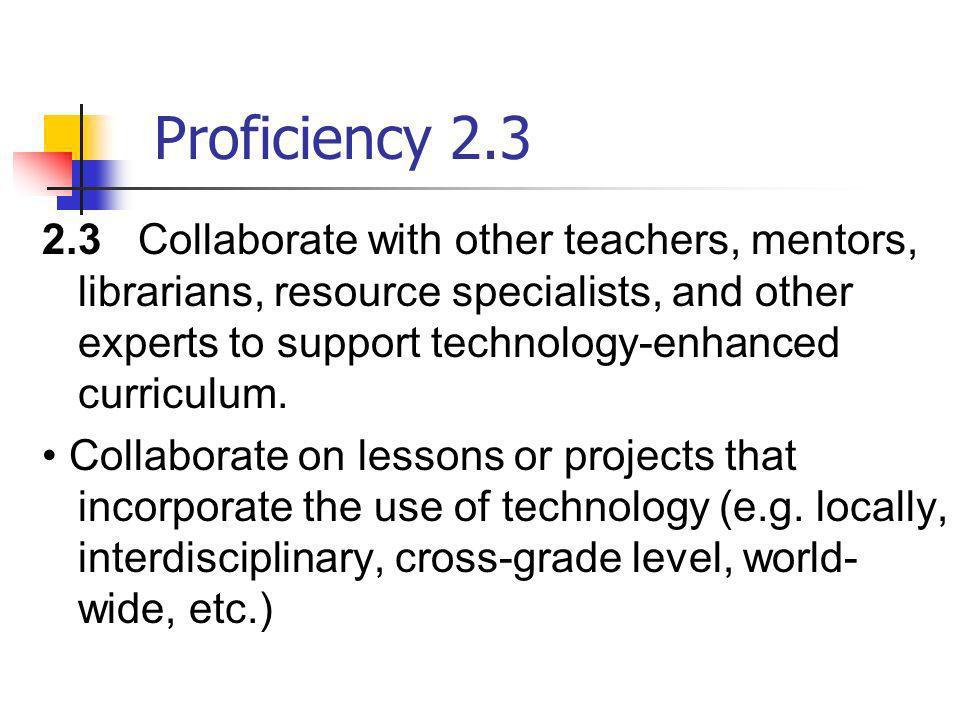 Proficiency 2.3