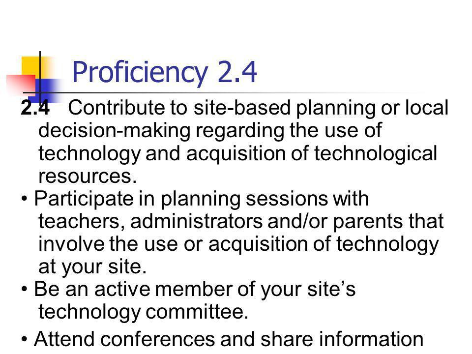 Proficiency 2.4