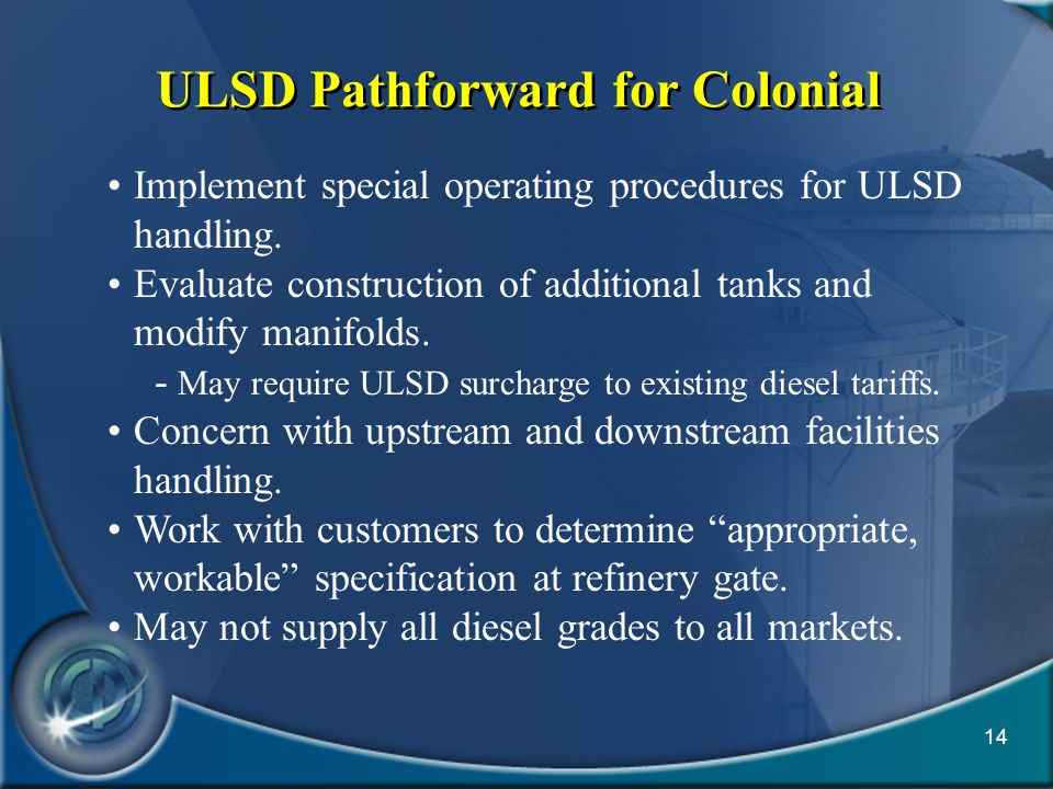 ULSD Pathforward for Colonial