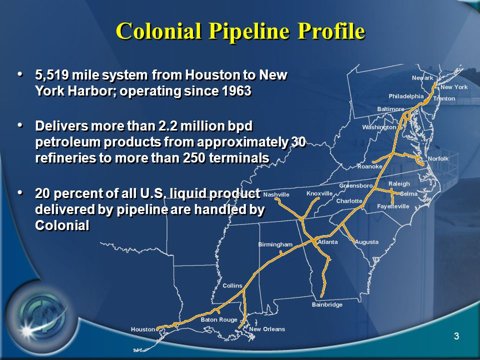 Colonial Pipeline Profile