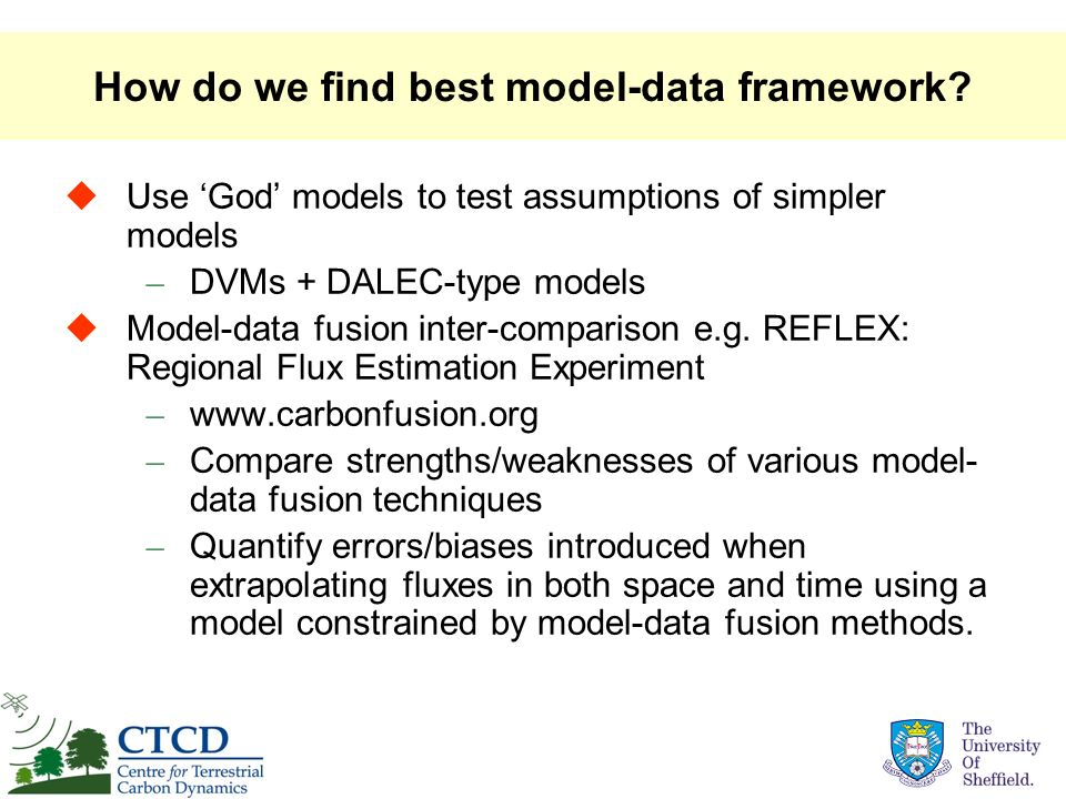 How do we find best model-data framework