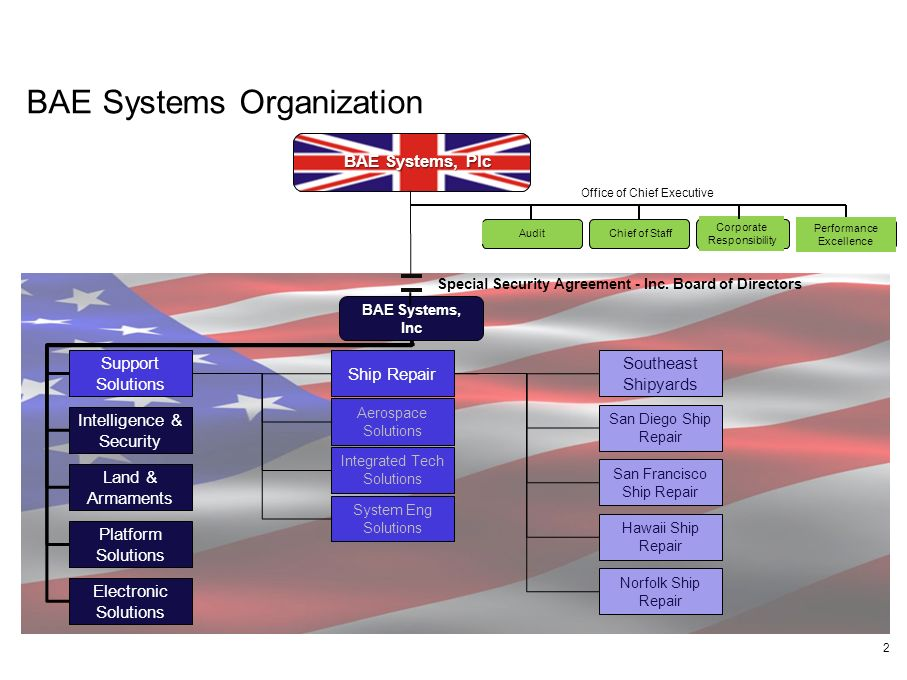 BAE Systems Organization