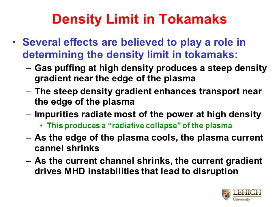Density Limit in Tokamaks