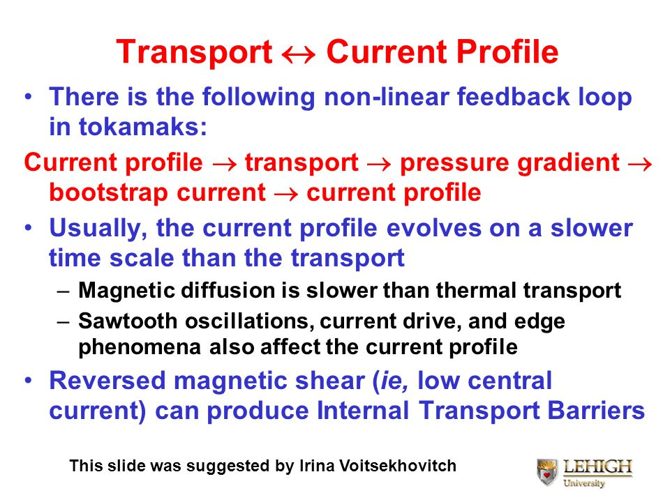 Transport  Current Profile