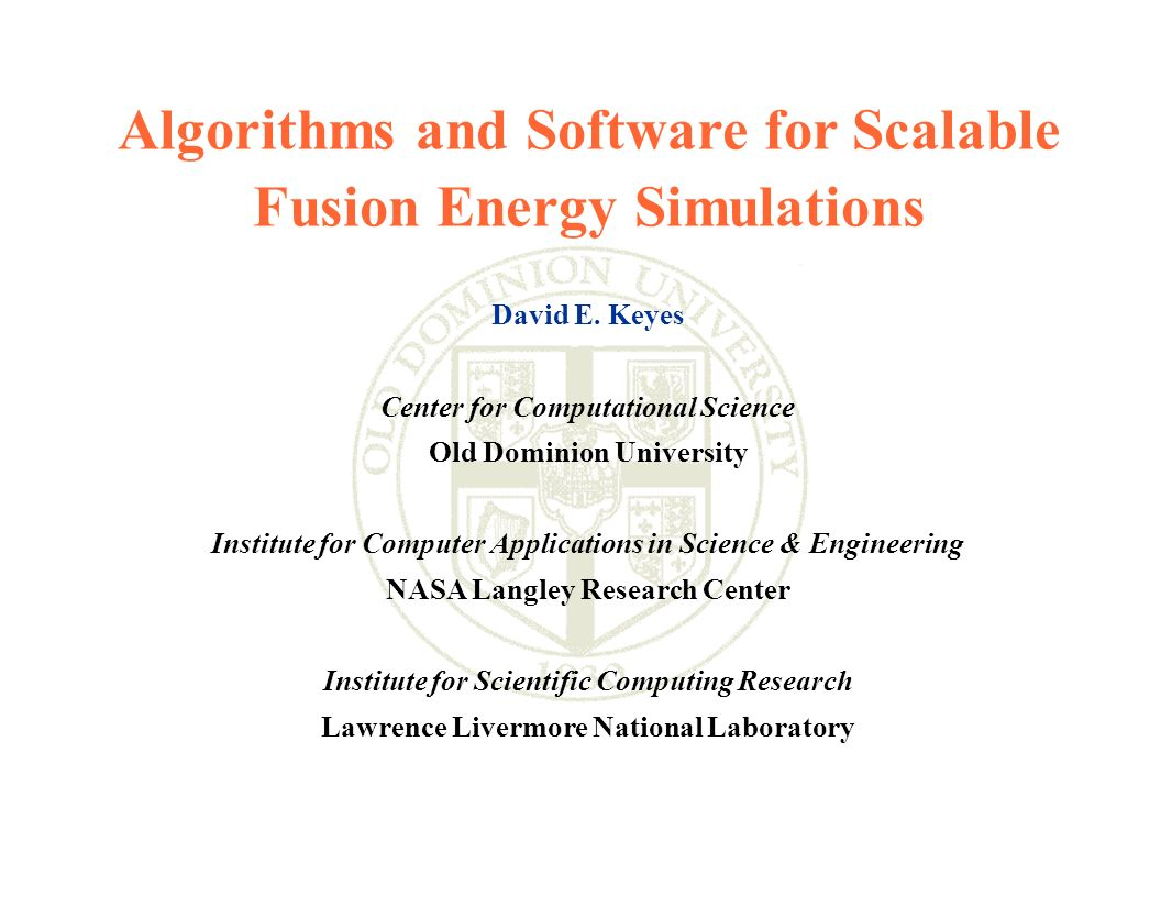 Algorithms and Software for Scalable Fusion Energy Simulations
