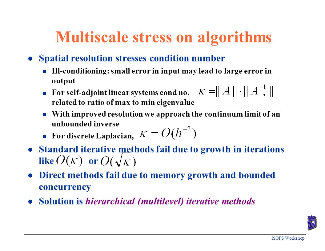 Multiscale stress on algorithms