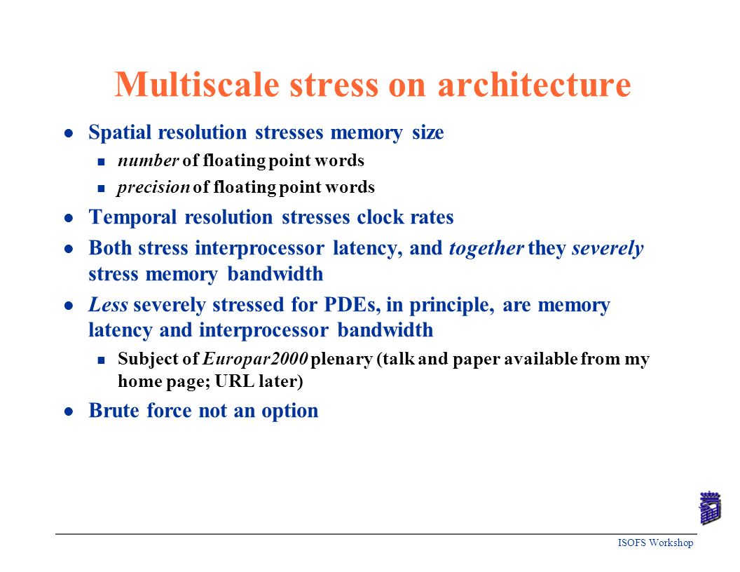 Multiscale stress on architecture