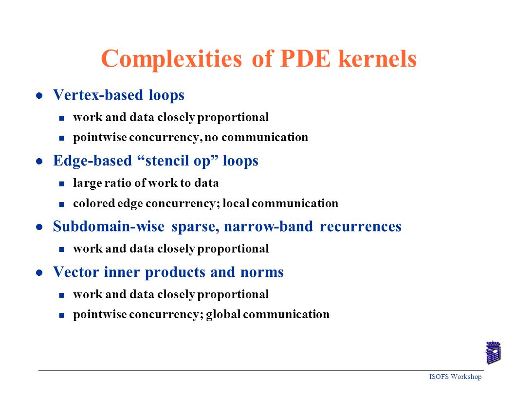 Complexities of PDE kernels