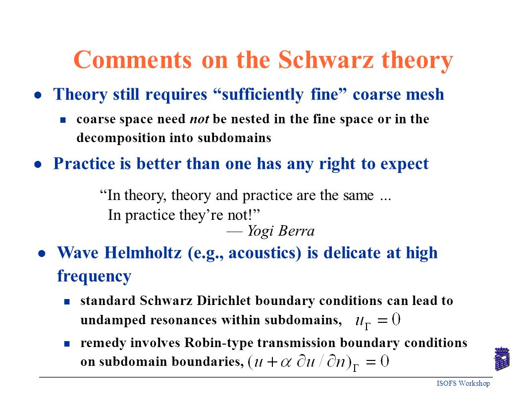 Comments on the Schwarz theory