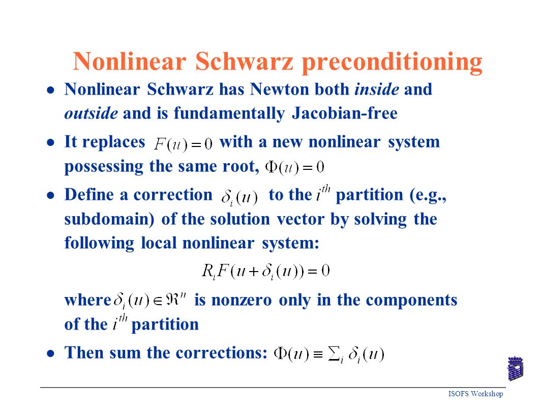 Nonlinear Schwarz preconditioning