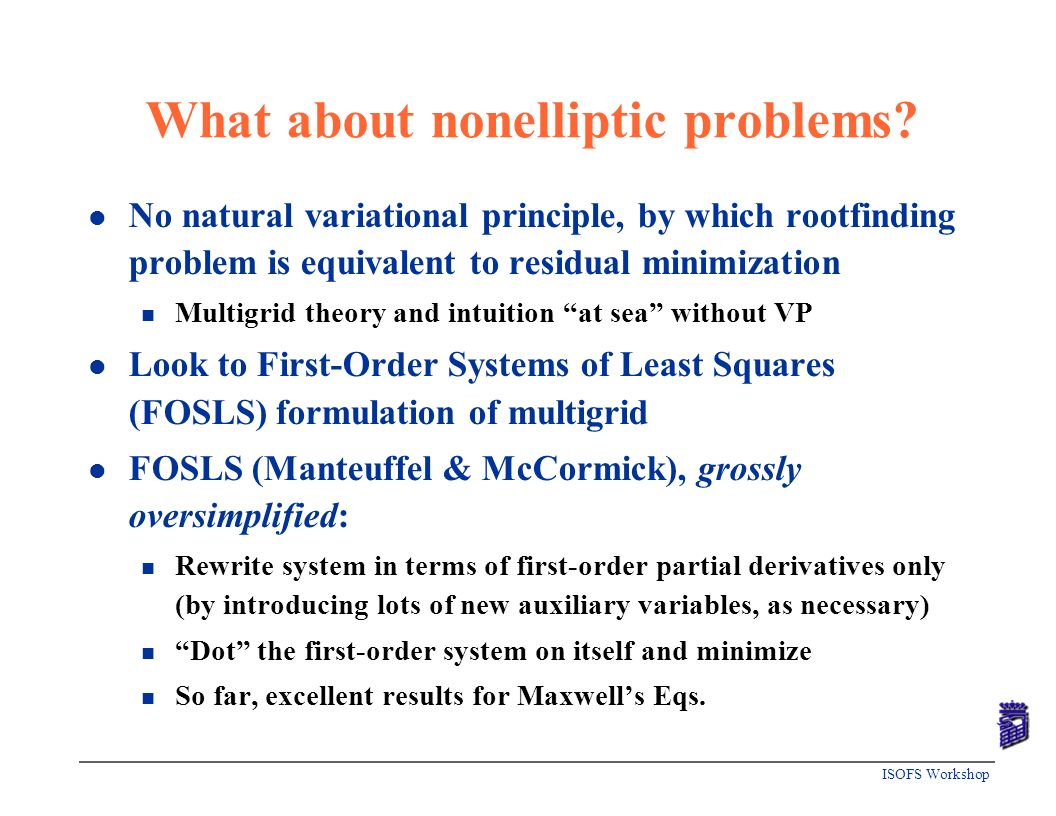 What about nonelliptic problems