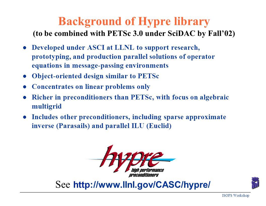 See http://www.llnl.gov/CASC/hypre/