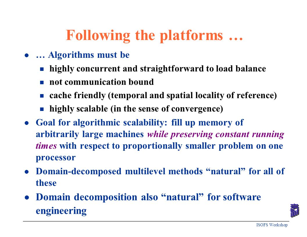 Following the platforms …