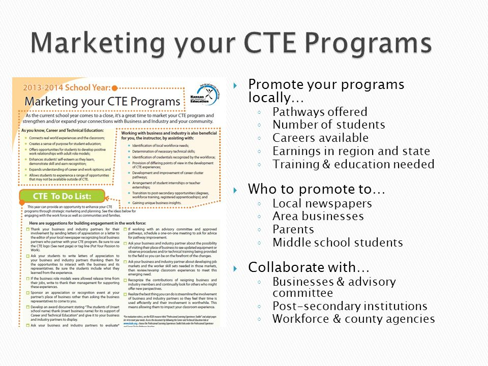 Marketing your CTE Programs