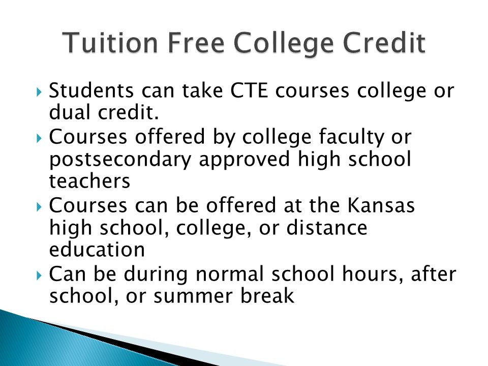 Tuition Free College Credit