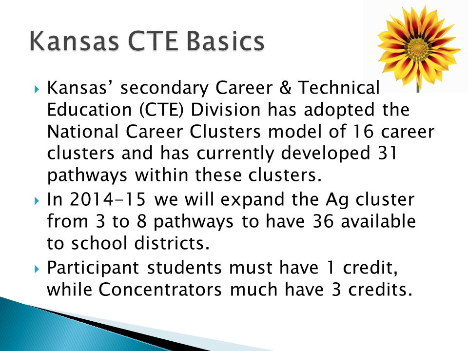 Kansas CTE Basics