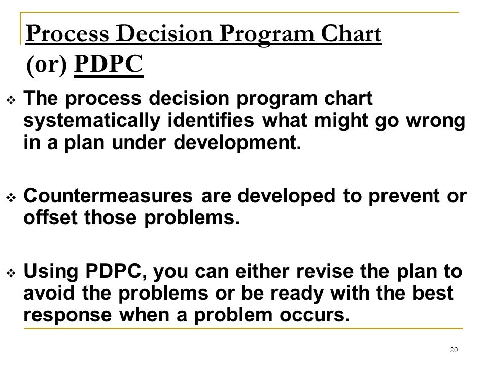 Process Decision Program Chart (or) PDPC