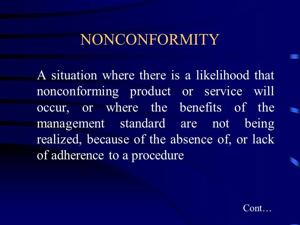 NONCONFORMITY