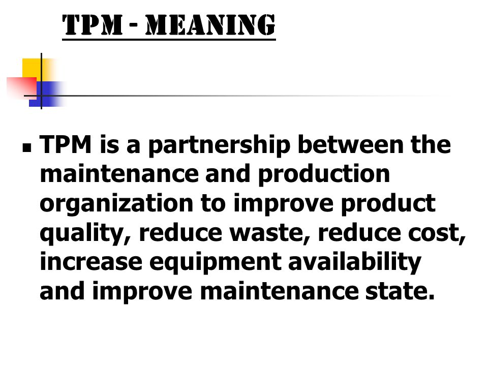 TPM - Meaning