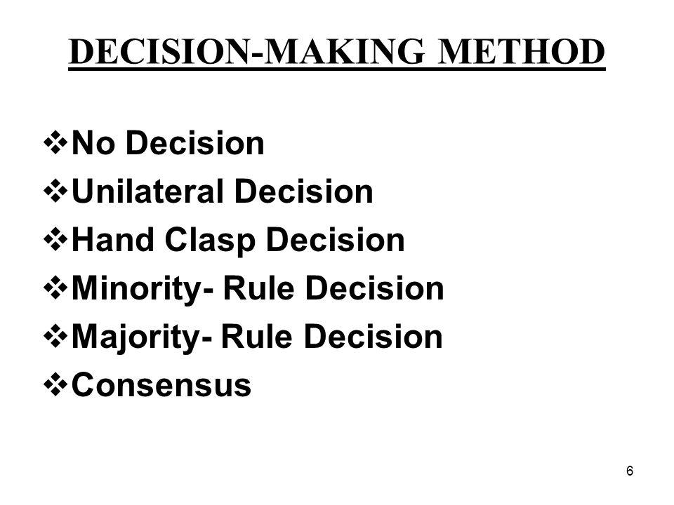 DECISION-MAKING METHOD