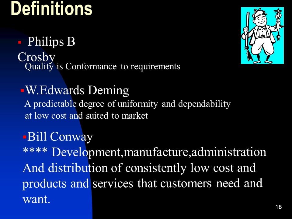 Definitions W.Edwards Deming Bill Conway
