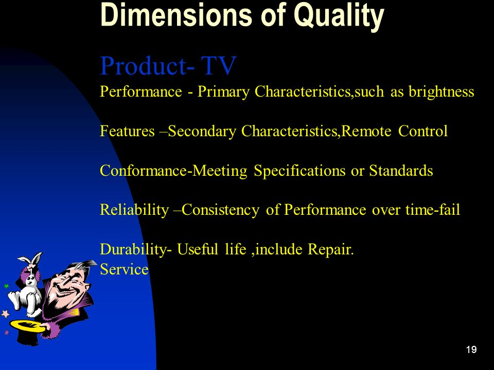 Dimensions of Quality Product- TV
