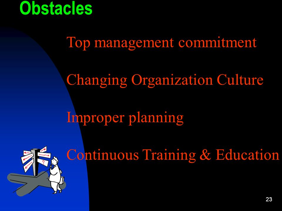 Obstacles Top management commitment Changing Organization Culture