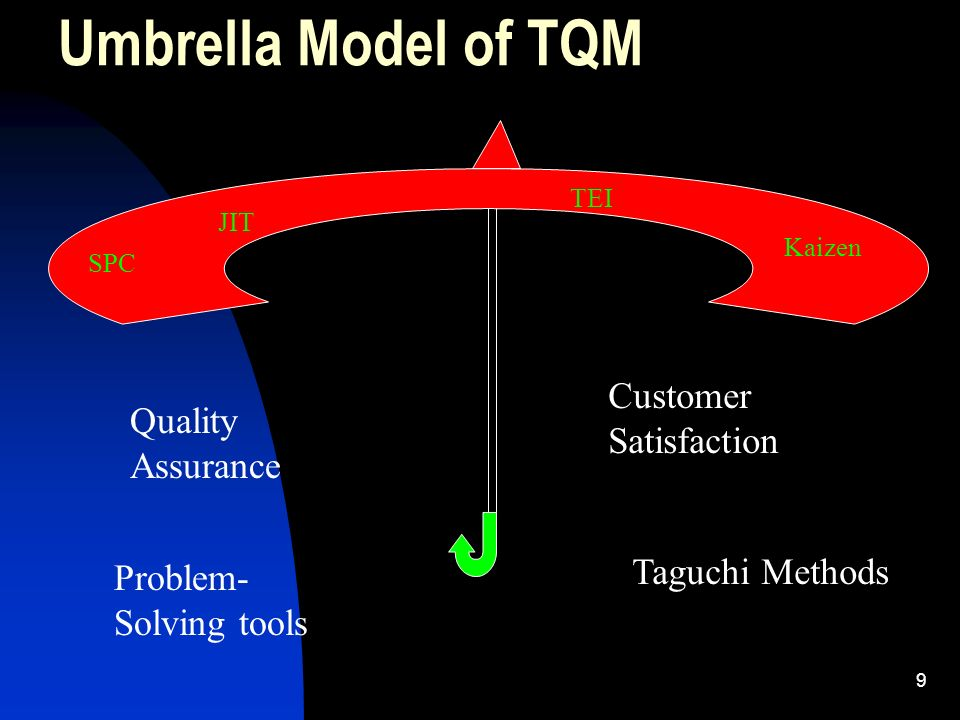 Umbrella Model of TQM Customer Satisfaction Quality Assurance