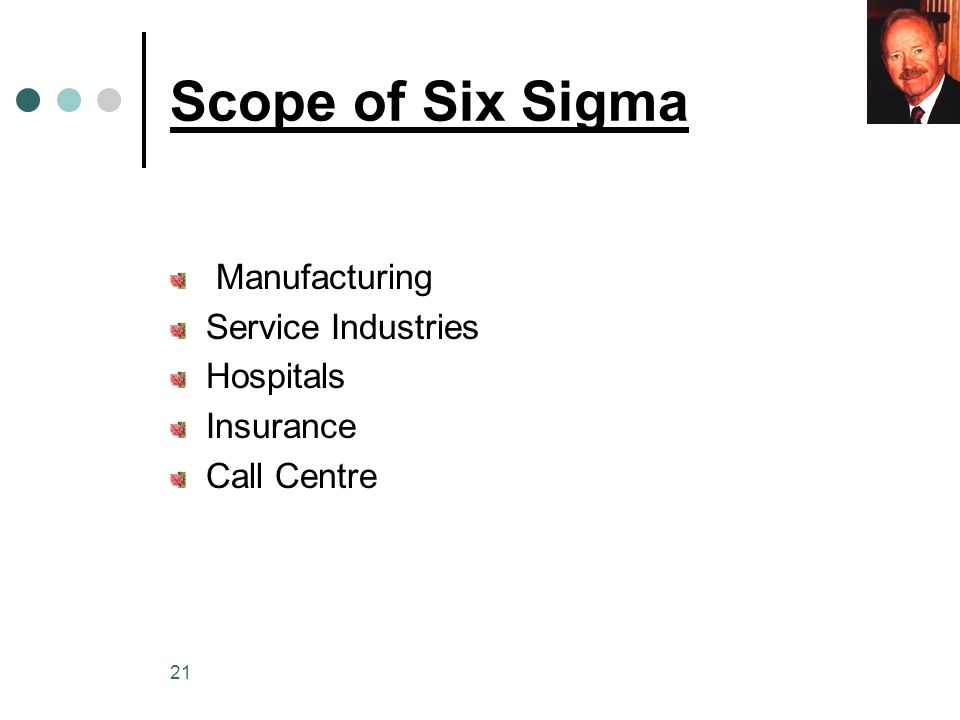 Scope of Six Sigma Manufacturing Service Industries Hospitals