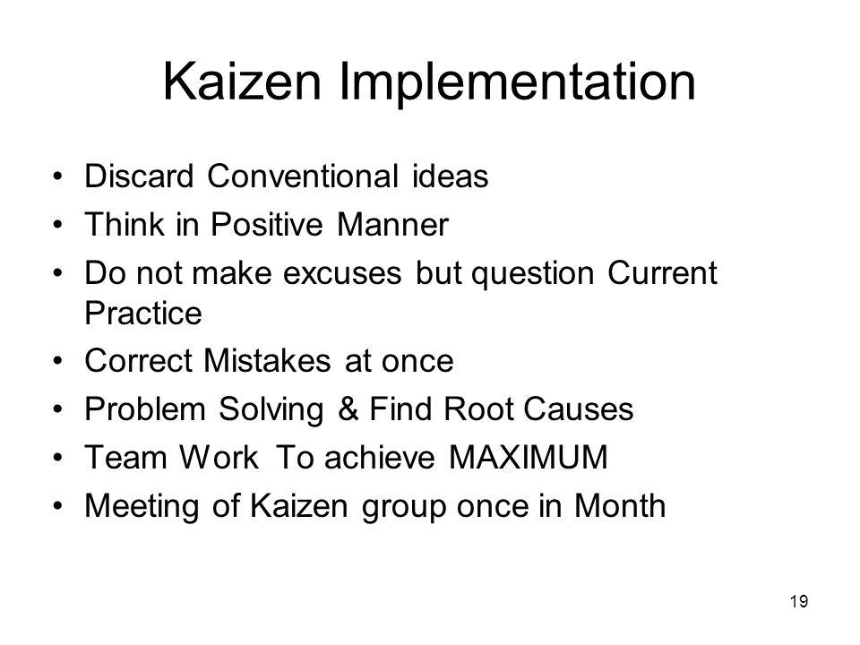 Kaizen Implementation