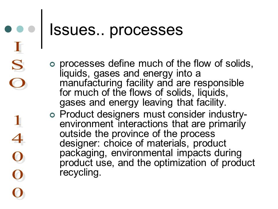 Issues.. processes