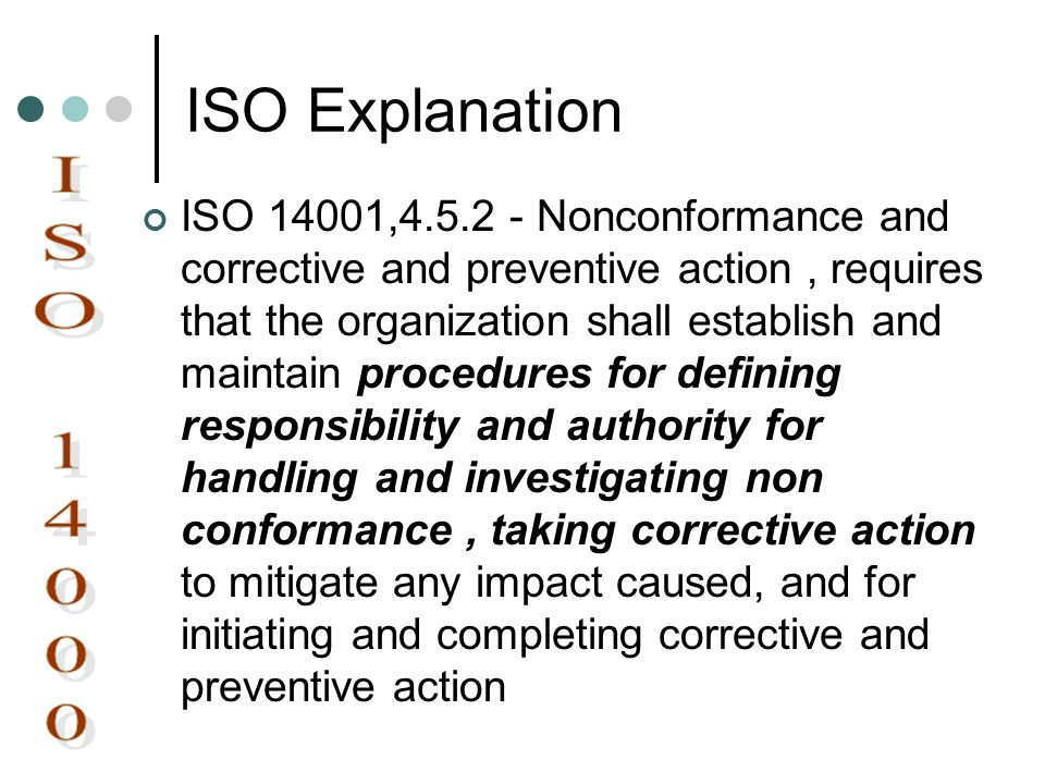 ISO Explanation