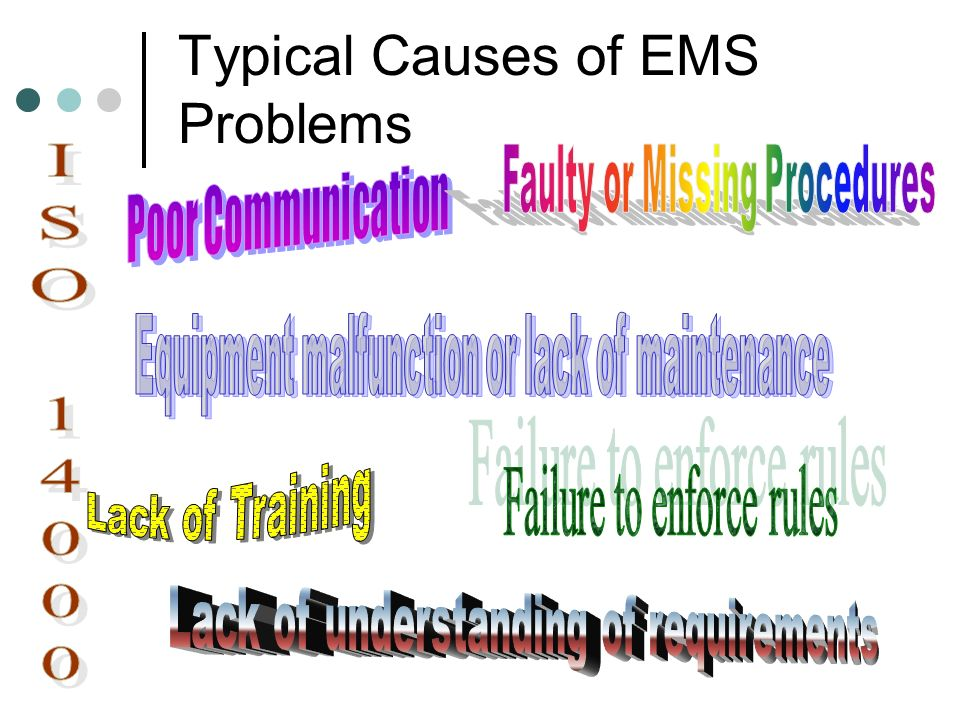 Typical Causes of EMS Problems