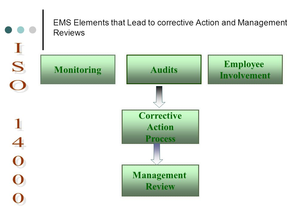 EMS Elements that Lead to corrective Action and Management Reviews
