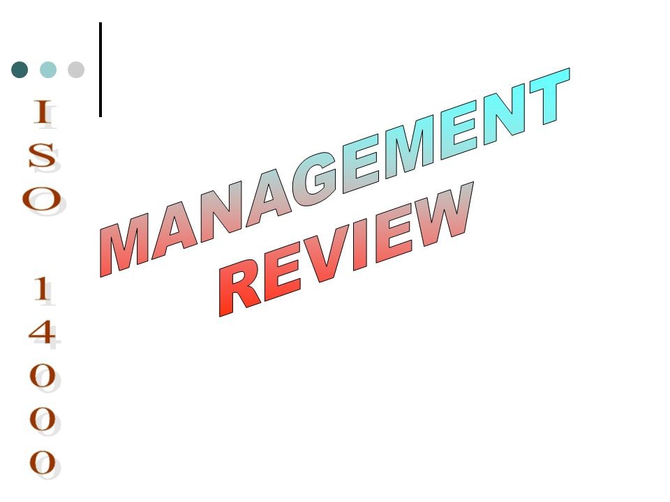 MANAGEMENT REVIEW ISO 14000