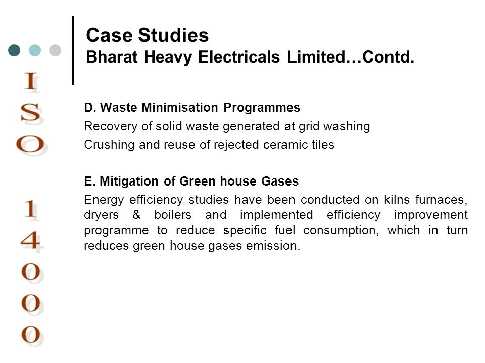 Case Studies Bharat Heavy Electricals Limited…Contd.