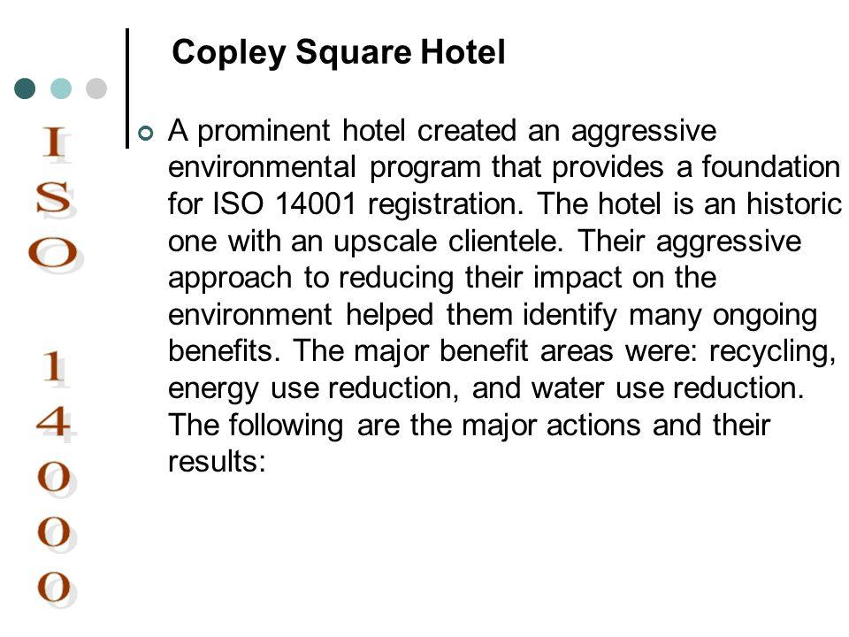 ISO 14000 Copley Square Hotel